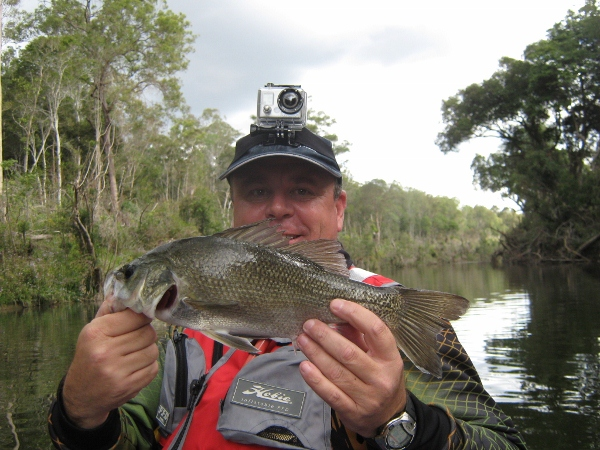 Biggles with his 37cm bass was a great upsize for the day
